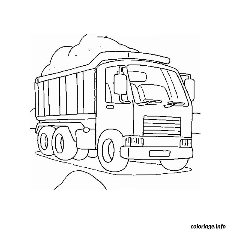 coloriage camion chantier dessin. Black Bedroom Furniture Sets. Home Design Ideas