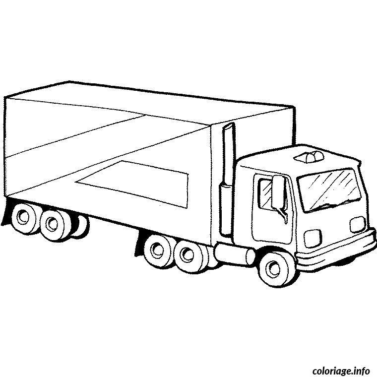 Coloriage camion cirque dessin - Coloriage camion ...