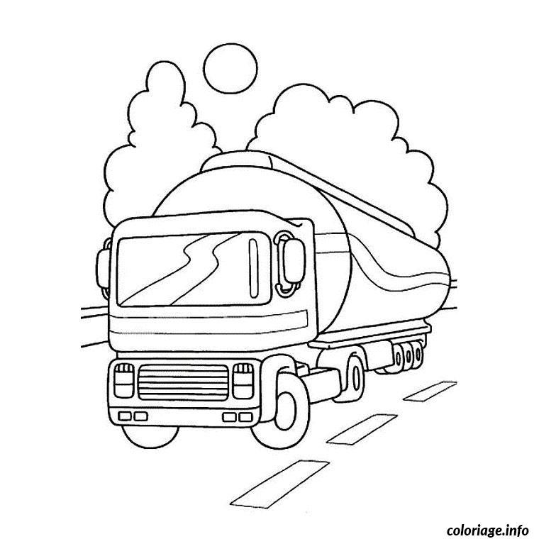 Coloriage camion citerne dessin - Camion a colorier gratuit ...