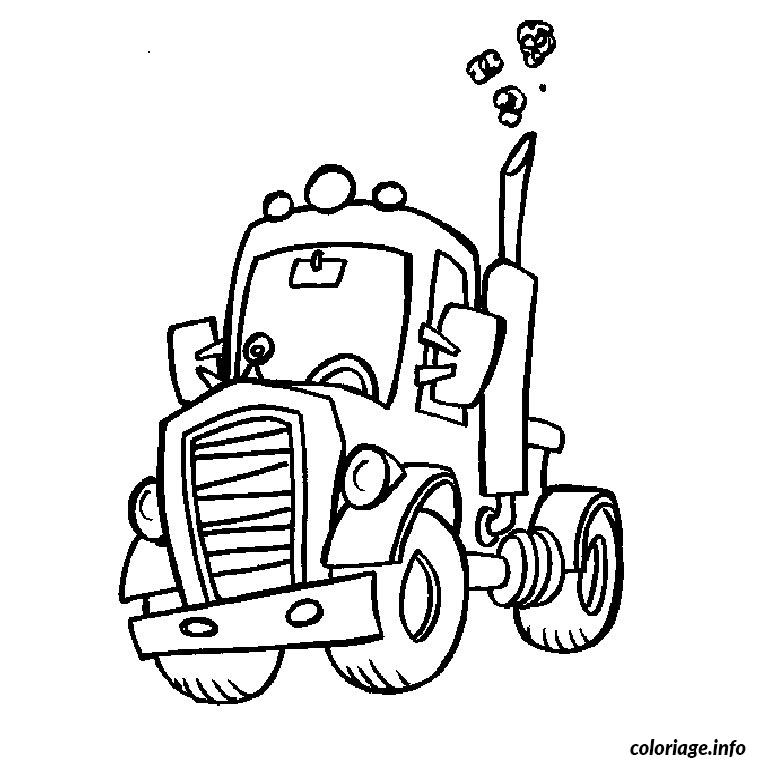 Coloriage camion course dessin - Dessin camion americain ...