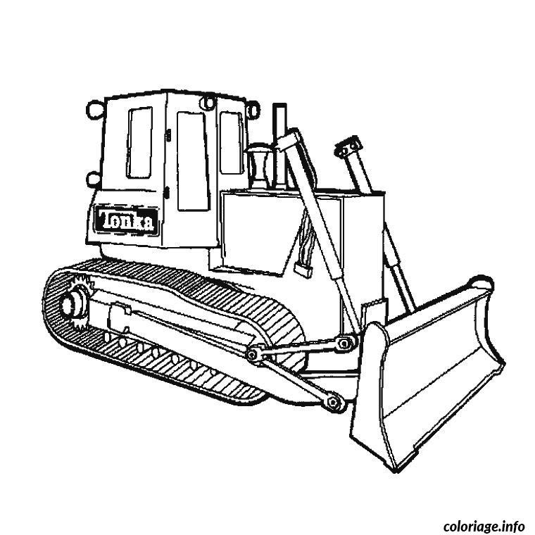 Coloriage camion de travaux dessin - Camion a colorier gratuit ...