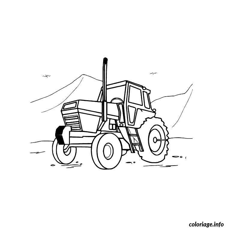 Coloriage Tracteur Camion Jecolorie Com