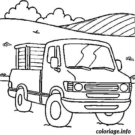 Coloriage voiture camion dessin - Camion americain dessin ...