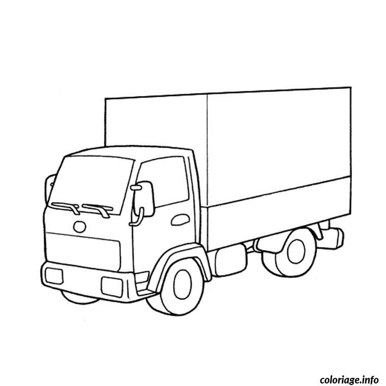 Coloriage camion de course - Coloriage camion ...