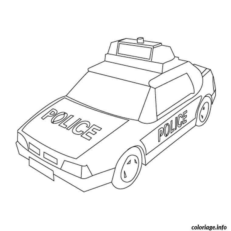 Coloriage camion de police