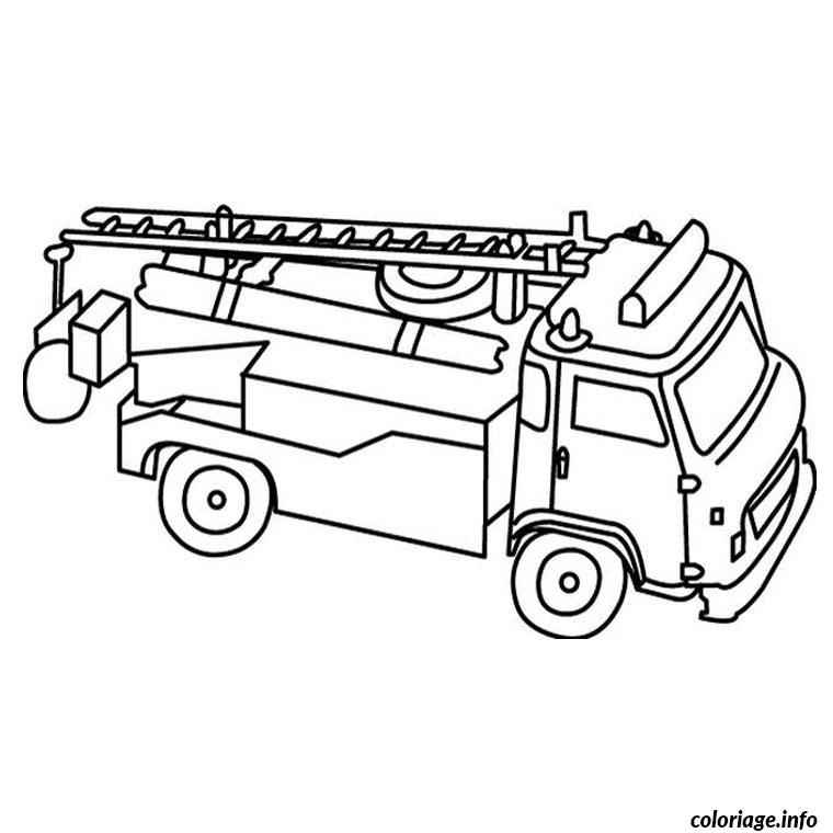 Coloriage Camion De Pompier Jecolorie Com