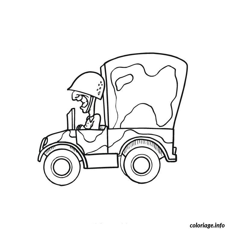Coloriage camion militaire dessin - Dessin de militaire ...