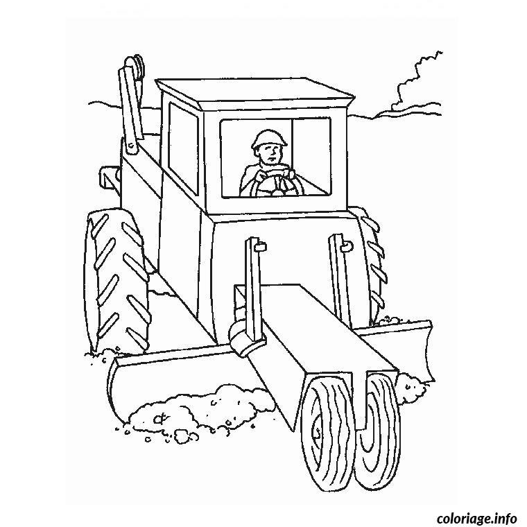 Dessin camion tracteur Coloriage Gratuit à Imprimer