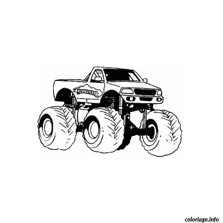 Coloriage Camion Tuning Dessin