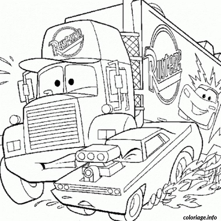 Coloriage camion de cars - Car coloriage ...
