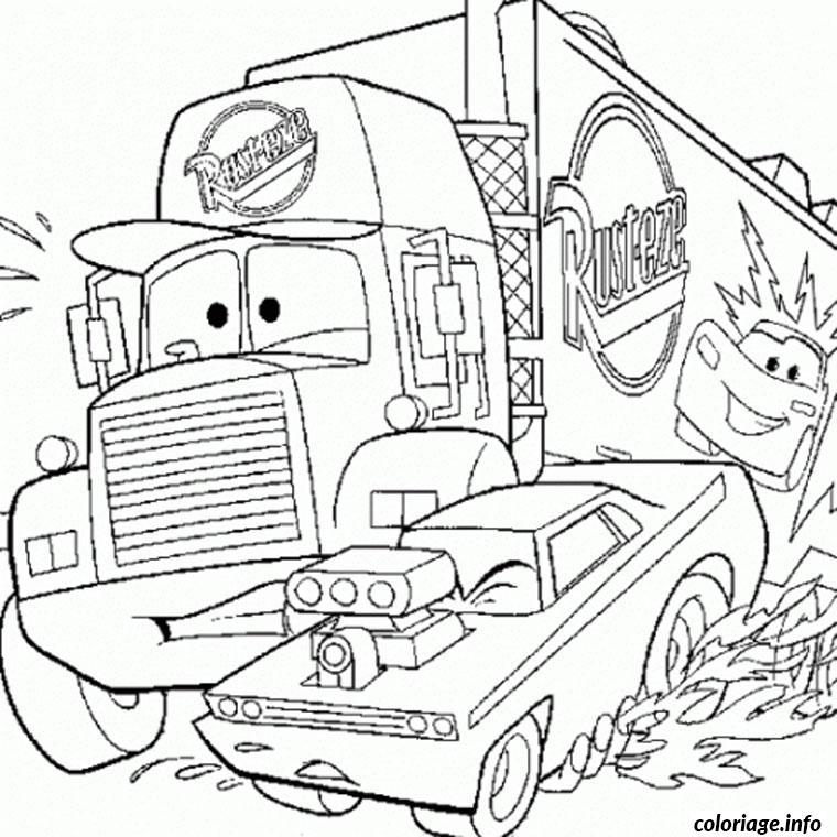Coloriage Camion De Cars Dessin Camion A Imprimer