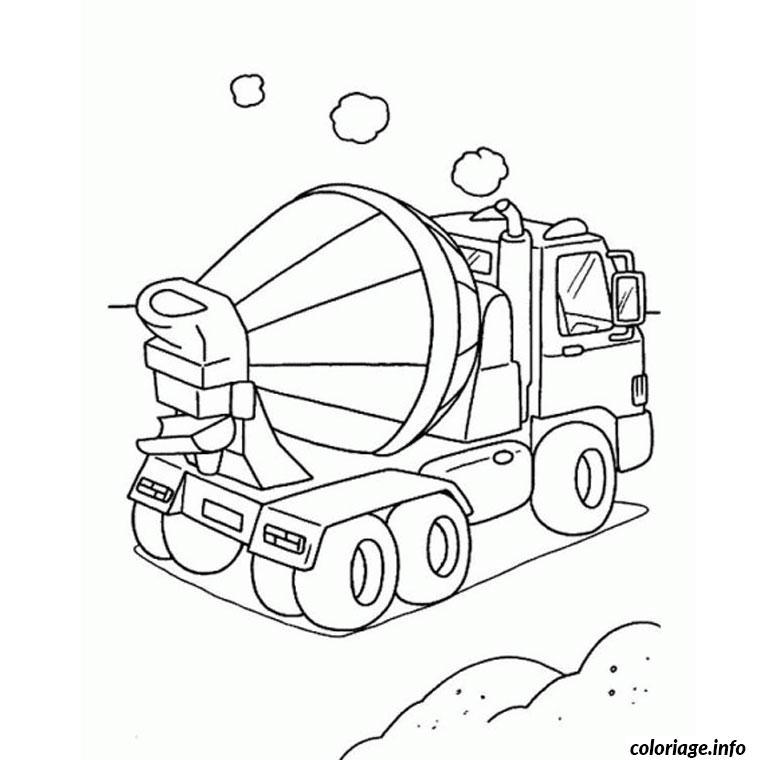 Coloriage camion de chantier - Coloriage de chantier ...