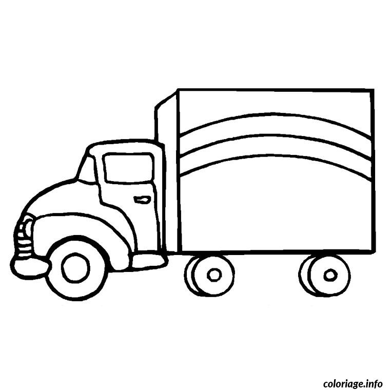 Coloriage Camion Transport Dessin