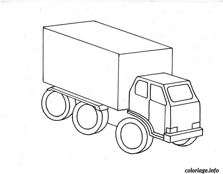 Coloriage Camion Voiture Imprimer.Coloriage Voitures Camions Dessin