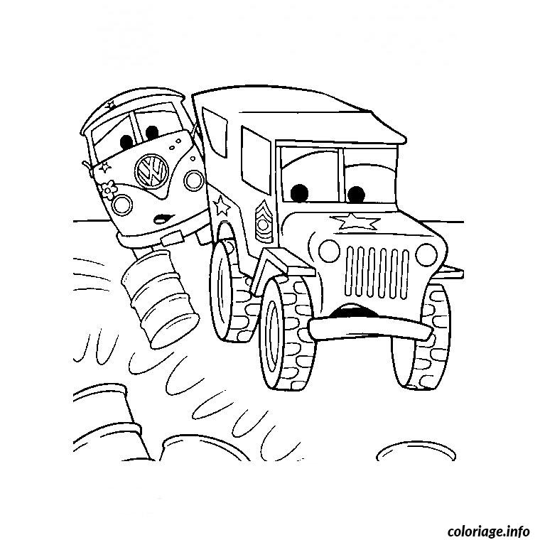 Coloriage camion cars dessin - Jeu gratuit cars flash mcqueen ...