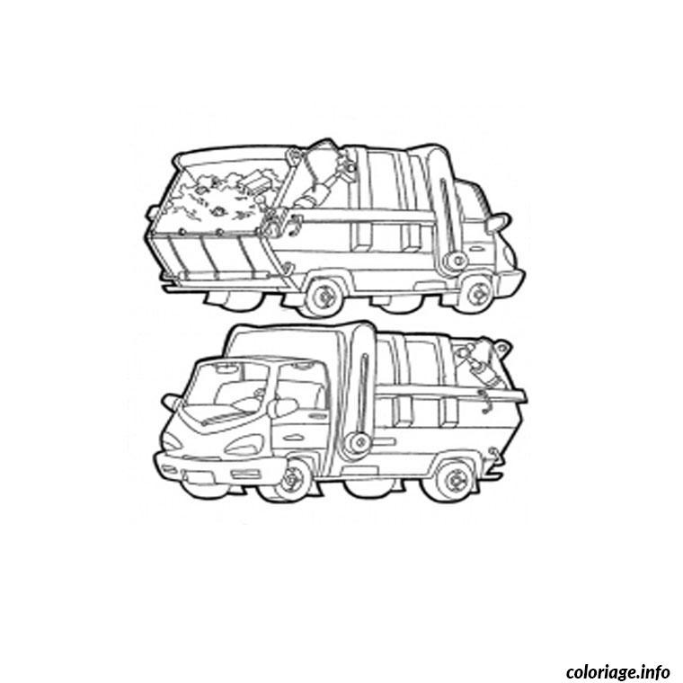 Coloriage Camion Poubelle Jecolorie Com