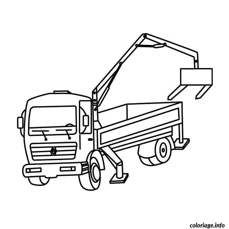 Coloriage camion renault - JeColorie.com
