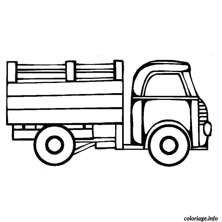 coloriage camion travaux dessin. Black Bedroom Furniture Sets. Home Design Ideas