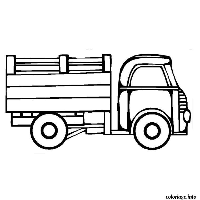 Coloriage Camion Travaux Dessin