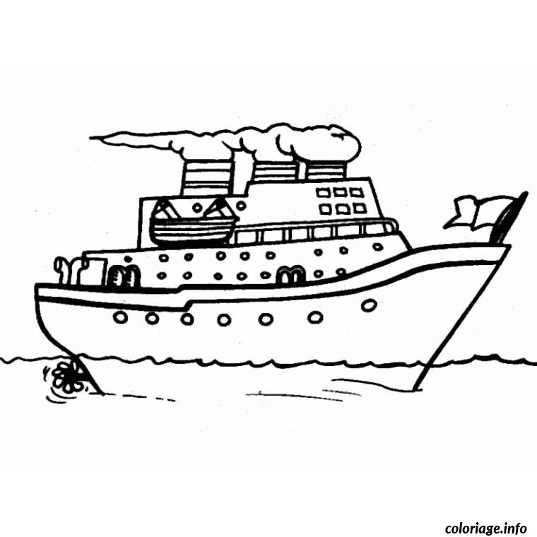 Coloriage bateau de croisiere dessin - Coloriage bateau a imprimer ...