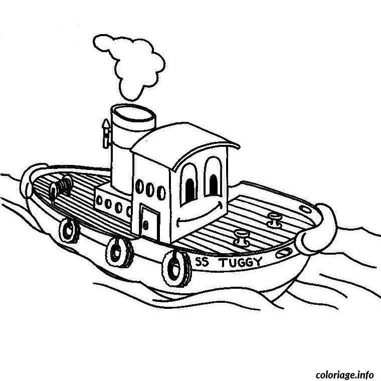 bateau a moteur coloriage dessin 2279
