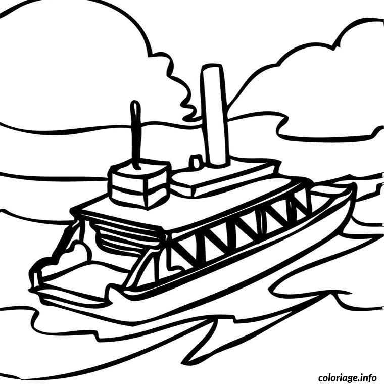 Coloriage bateau mouche dessin - Dessin bateau enfant ...