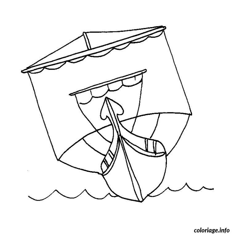 Coloriage bateau romain - Dessin de bateau ...