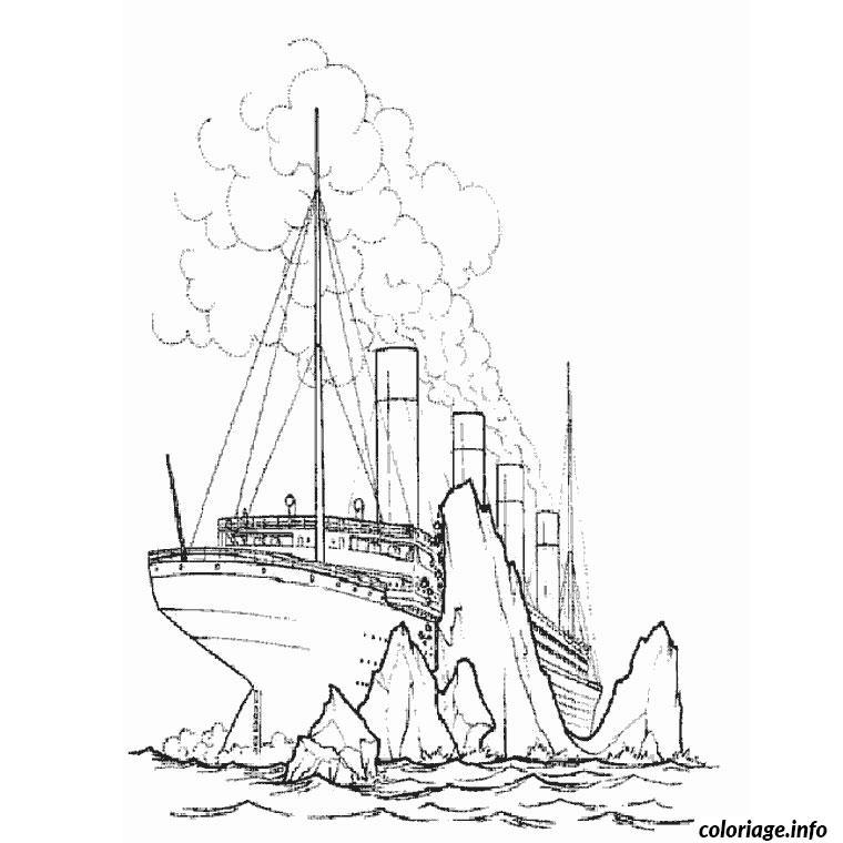 Coloriage bateau titanic dessin - Dessin de bateau facile ...