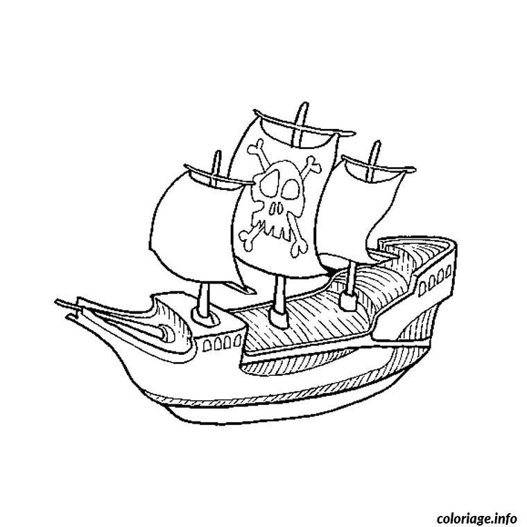 Coloriage pirate bateau - Dessin pirates ...