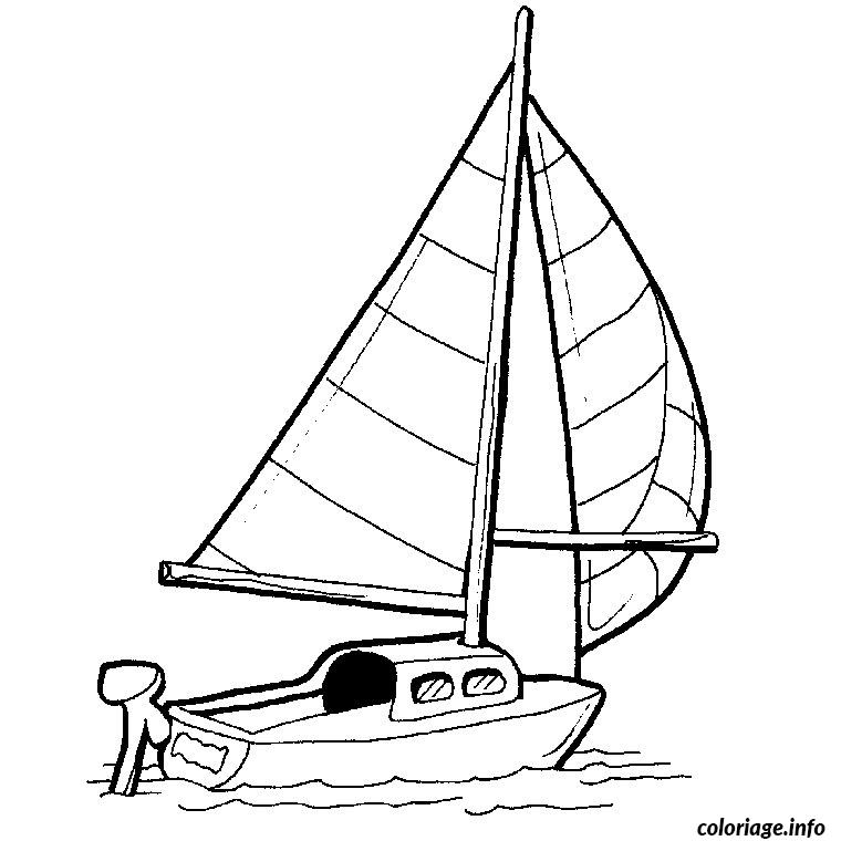 Coloriage bateau de course dessin - Voilier dessin ...