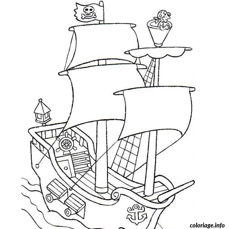 bateau de pirate coloriage dessin 2285