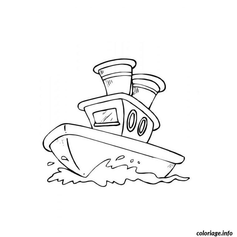 bateau de police coloriage dessin 2290