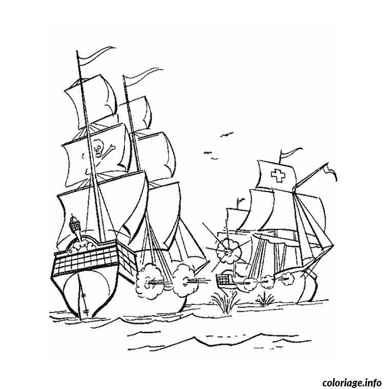 Coloriage bateau guerre - Coloriage bateau de pirate ...