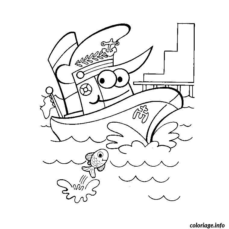 Coloriage bateau police dessin - Coloriage bateau a imprimer ...