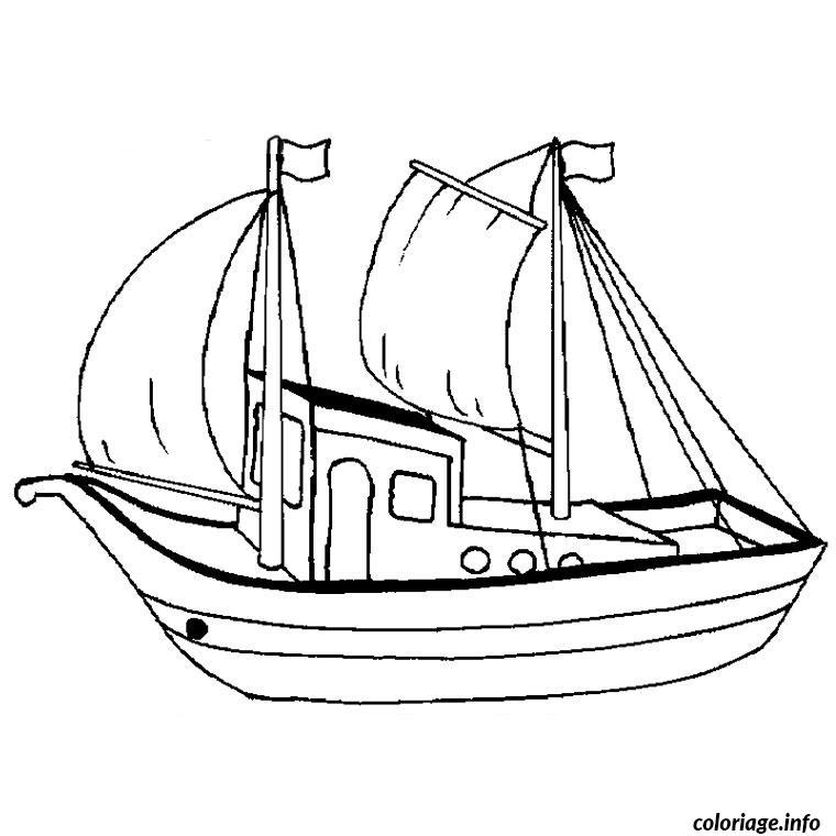 Coloriage Bateau Viking.Coloriage Bateau Peche Dessin