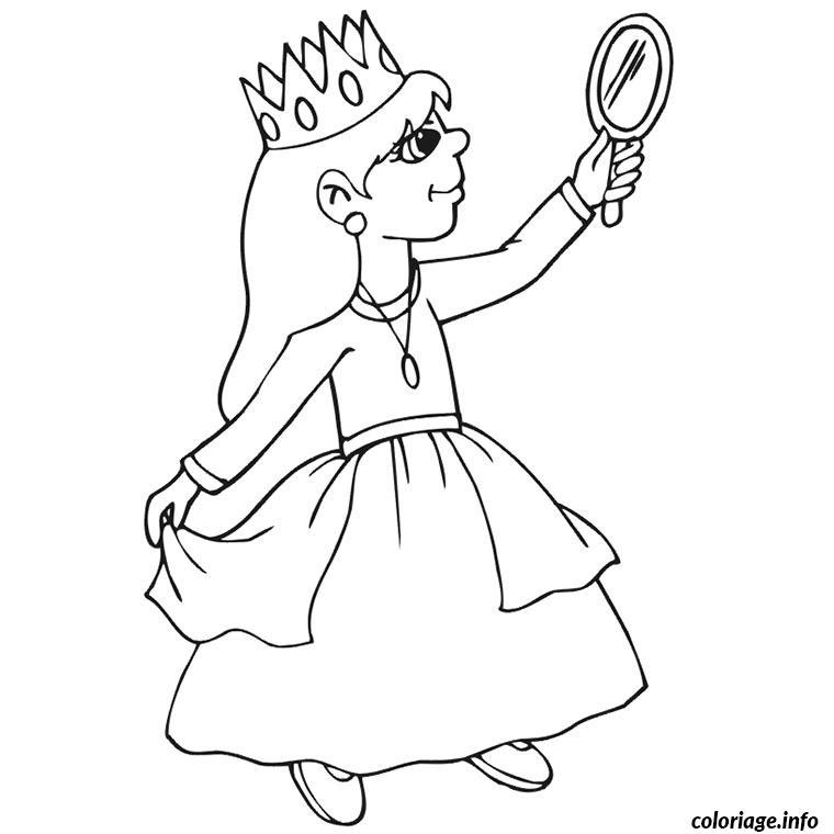 petite fille princesse coloriage 2299