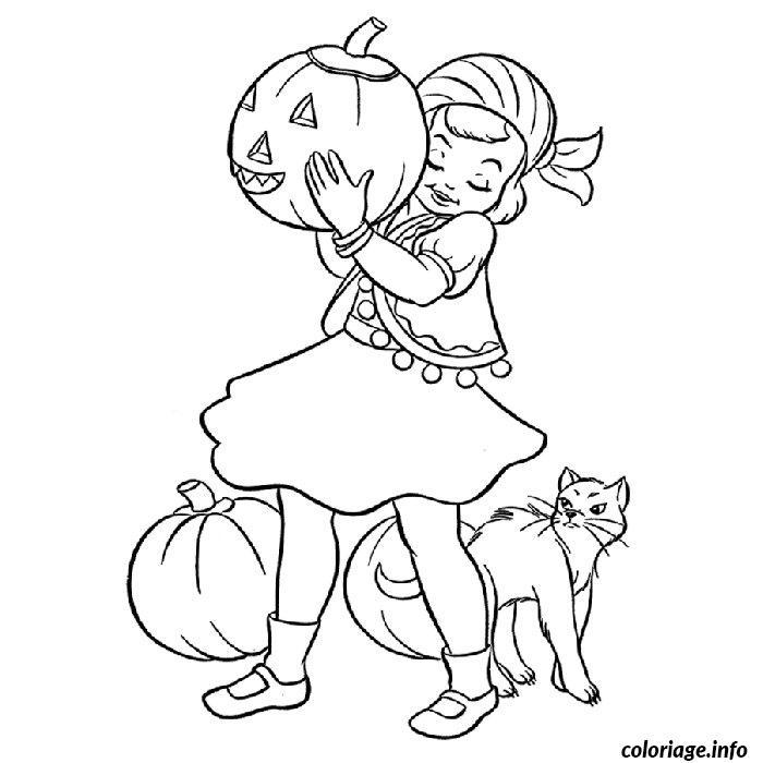 Coloriage fille halloween dessin - Coloriage de chambre de fille ...