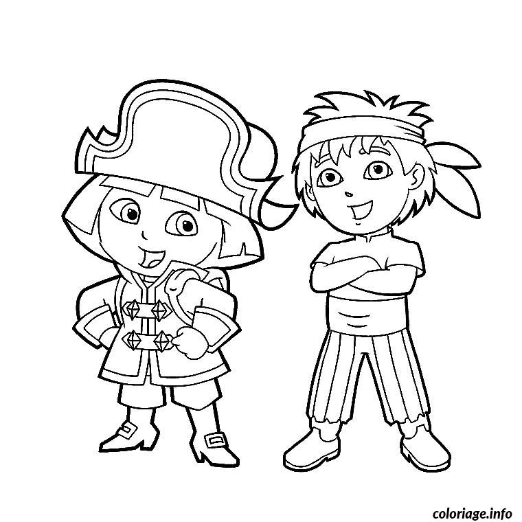 Coloriage fille pirate dessin - Coloriage fille pirate ...