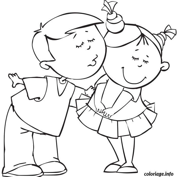 Coloriage garcon et fille amoureux dessin - Dessin a colorier pour fille ...