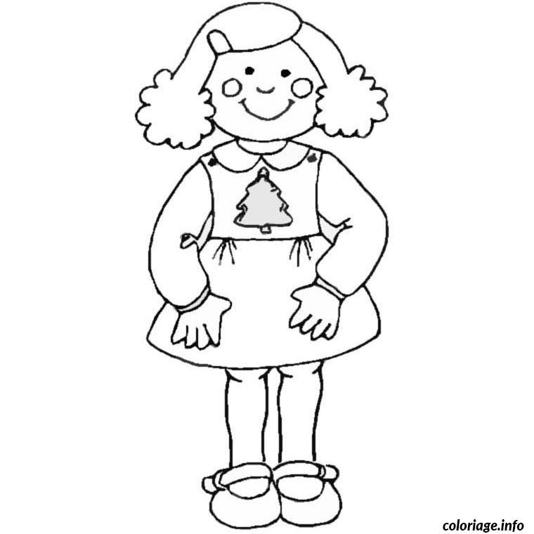 Coloriage fille 10 ans dessin - Coloriage fillette ...