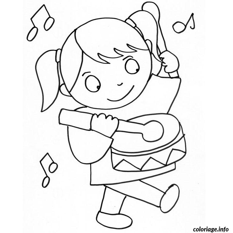 coloriage fille 3 ans dessin gratuit