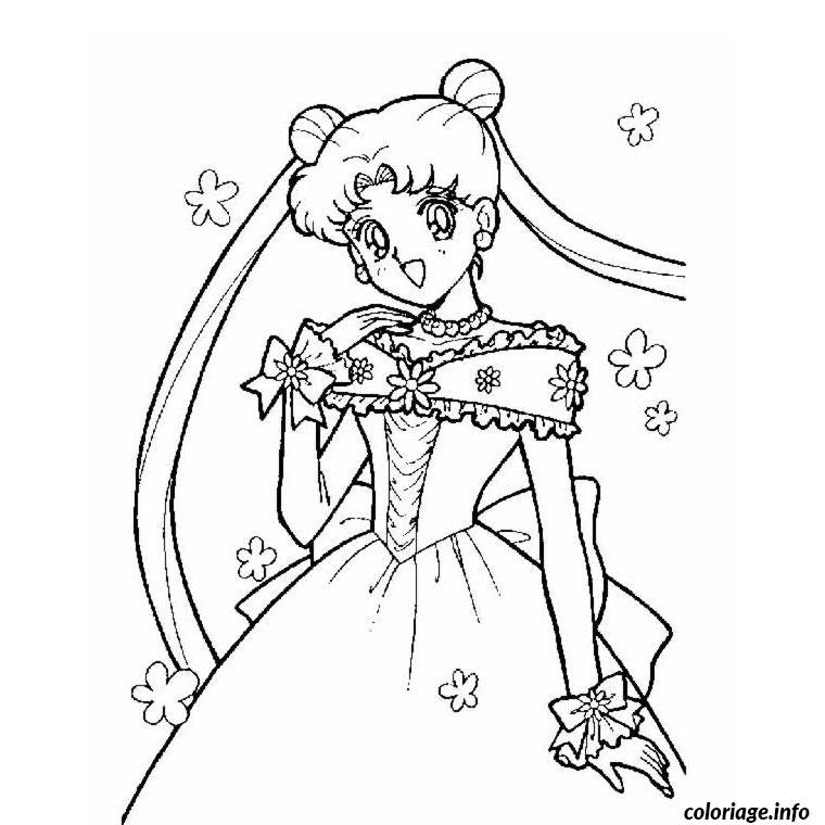 Coloriage Fille Princesse dessin