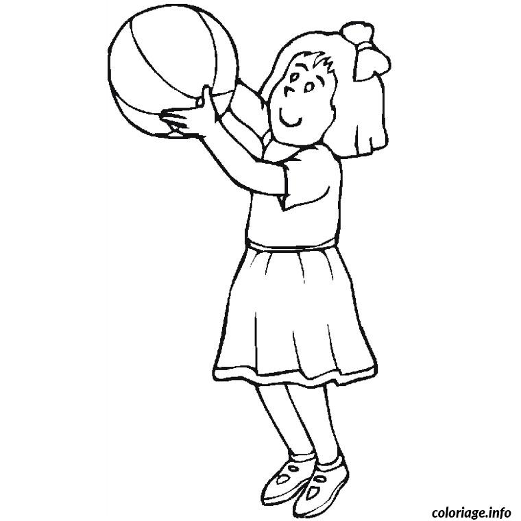 Coloriage Basket Fille.Coloriage Fille 9 Ans Dessin