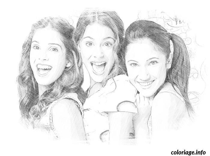 Coloriage amies filles et violetta - Image de violetta et ses amies ...