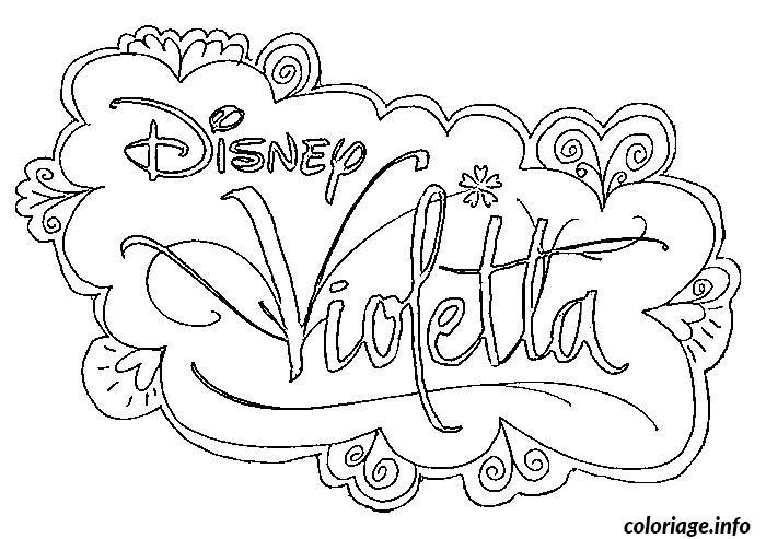 Dessin logo disney violetta Coloriage Gratuit à Imprimer