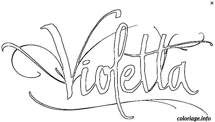 Dessin logo de violetta Coloriage Gratuit à Imprimer