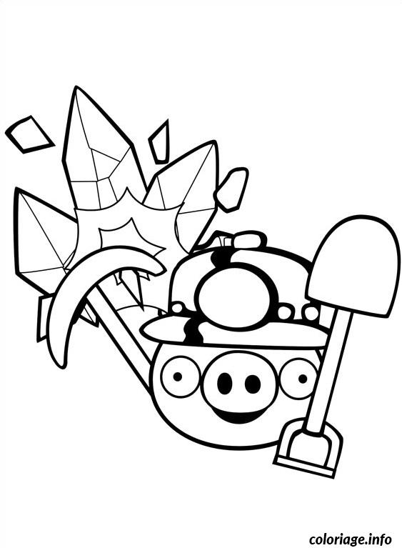 Coloriage angry birds pret pour la mine dessin - Angry bird coloriage ...