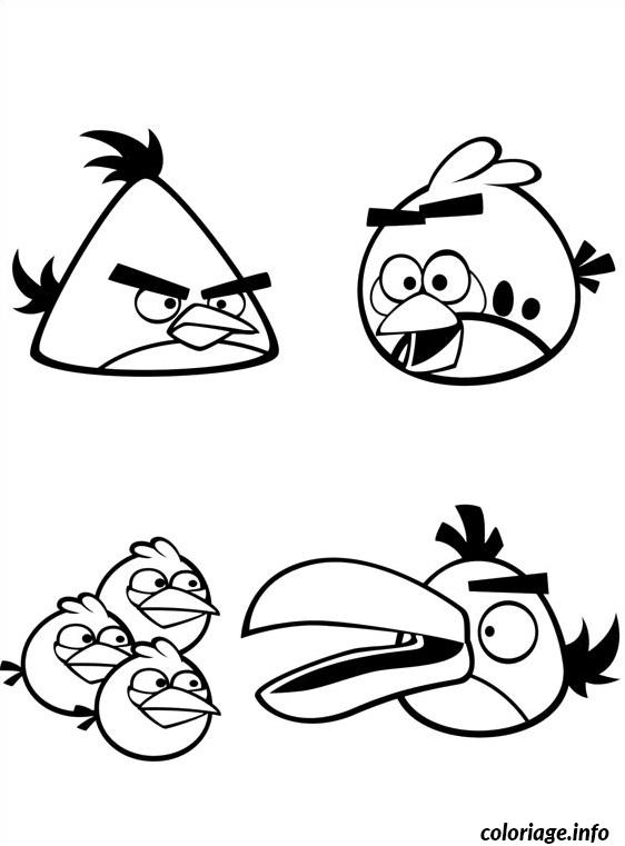 Coloriage les angry birds dessin - Coloriage angry birds ...