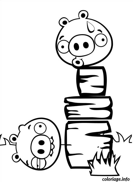Coloriage angry birds chute du cochon - Dessin a colorier angry bird ...