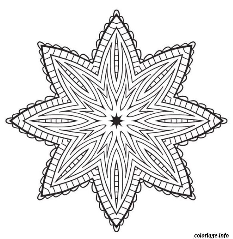 Coloriage De Mandala Etoile.Coloriage Mandala Etoile Jecolorie Com